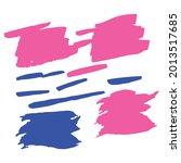 Blue Watercolor Graffiti. Pink...