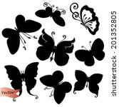 Vector Set Of Butterflies....