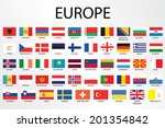 alphabetical country flags for... | Shutterstock . vector #201354842