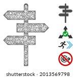 mesh way pointer web icon...   Shutterstock .eps vector #2013569798
