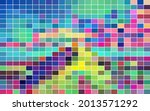 multicolored mosaic with color... | Shutterstock .eps vector #2013571292