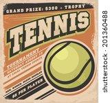 retro poster design for tennis... | Shutterstock .eps vector #201360488