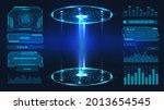 futuristic platform. hologram...