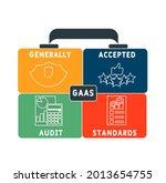 gaas   generally accepted audit ... | Shutterstock .eps vector #2013654755