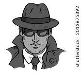 male detective investigating.... | Shutterstock .eps vector #2013675392