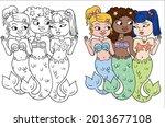 Mermaid Coloring Page....
