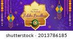 rakhi festival background...   Shutterstock .eps vector #2013786185