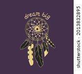 vintage dreamcatcher with...   Shutterstock .eps vector #2013832895