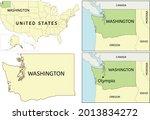 washington state location on...   Shutterstock .eps vector #2013834272