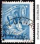 argentina   circa 1944  a stamp ... | Shutterstock . vector #201386288