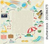 summer accessories  vector... | Shutterstock .eps vector #201386375