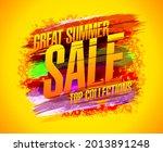 great summer sale banner design ... | Shutterstock . vector #2013891248