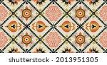 ikat border. geometric folk... | Shutterstock .eps vector #2013951305