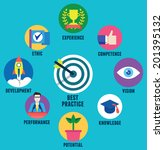 vector concept of best practice ... | Shutterstock .eps vector #201395132