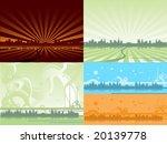 set of city backgrounds | Shutterstock .eps vector #20139778