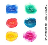 colorful vector watercolor... | Shutterstock .eps vector #201398252
