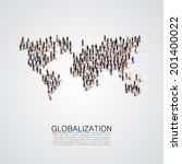 group of people making a earth... | Shutterstock .eps vector #201400022
