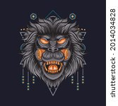 vector mecha illustration wild... | Shutterstock .eps vector #2014034828