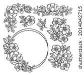 Buttercup Set Floral Monochrome ...
