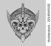 tattoo and t shirt design black ... | Shutterstock .eps vector #2014049105