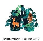 nature protection banner forest ... | Shutterstock .eps vector #2014052312
