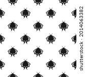 celestial moth seamless... | Shutterstock .eps vector #2014063382