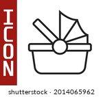 black line baby stroller icon... | Shutterstock .eps vector #2014065962