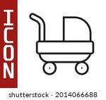 black line baby stroller icon... | Shutterstock .eps vector #2014066688