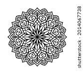 mandala art black pattern for... | Shutterstock .eps vector #2014067738