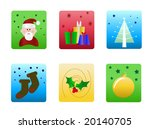 vector christmas icons | Shutterstock .eps vector #20140705