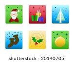 vector christmas icons | Shutterstock .eps vector #20140705