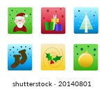 christmas icons illustrations | Shutterstock . vector #20140801