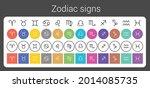 zodiac signs  aquarius  libra ... | Shutterstock .eps vector #2014085735
