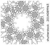 mehndi flower decorative... | Shutterstock .eps vector #2014089965