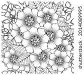 mehndi flower decorative... | Shutterstock .eps vector #2014089995