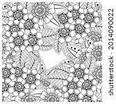 mehndi flower decorative... | Shutterstock .eps vector #2014090022