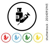 vaccine icon with color...   Shutterstock .eps vector #2014091945