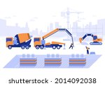 construction site of building...   Shutterstock .eps vector #2014092038