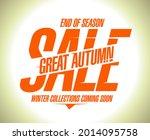 great autumn sale vector banner. | Shutterstock .eps vector #2014095758