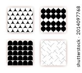 boho seamless patterns set in a ... | Shutterstock .eps vector #2014097768