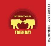 international tiger day design... | Shutterstock .eps vector #2014105565