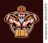muscular king esports mascot... | Shutterstock .eps vector #2014110575