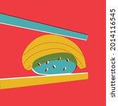 sushi illustration flat... | Shutterstock .eps vector #2014116545