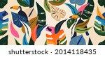 modern exotic jungle pattern...   Shutterstock .eps vector #2014118435