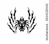 tribal spider head logo. tattoo ... | Shutterstock .eps vector #2014120142
