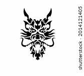 tribal dragon head logo. tattoo ... | Shutterstock .eps vector #2014121405