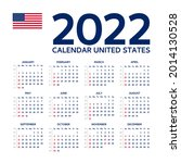 2022 year calendar with weeks... | Shutterstock .eps vector #2014130528