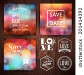 save the date for personal... | Shutterstock .eps vector #201414392