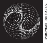 halftone dots in circle form.... | Shutterstock .eps vector #2014153472