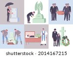 flat death composition set with ... | Shutterstock .eps vector #2014167215